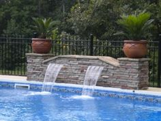Having a pool sounds awesome especially if you are working with the best backyard pool landscaping ideas there is. How you design a proper backyard with a pool matters. Backyard Pool Landscaping, Swimming Pools Backyard, Swimming Pool Designs, Landscaping Tips, Swimming Pool Waterfall, Pool Fountain, Fountain Design, Pool Landscape Design, Pool Water Features