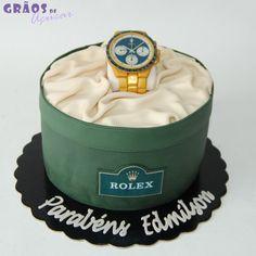 Relógio - Rolex - Grãos de Açúcar - Bolos decorados - Cake Design