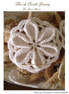Floral Motif free crochet graph pattern