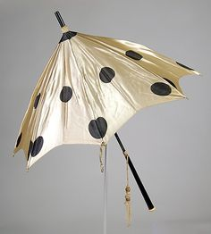 Parasol Of Silk, Wood And Synthetic - American    c.1880-1898  -  The Metropolitan Museum Of Art