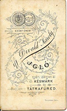 1880s Divald reverse/Verzó
