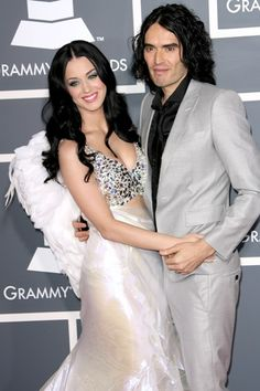 Russell Brand wants to be friends with Katy Perry. The comic - who has daughter Mabel with new wife Laura Galla. Babe, Russell Brand, New Wife, Hollywood Celebrities, Hollywood Couples, Casual Party, Celebrity Couples, Katy Perry, Vintage Costumes