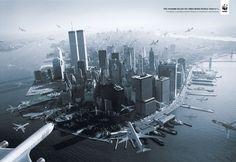 "Think worthy advertising | From up North ( a quantidade de ""11 de setembro"" para equivaler o tsunami)"