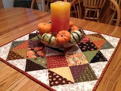 asimplelife Quilts: Halloween Autumn Table Topper