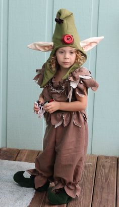 Brownie elf sprite pixie costume for child by Darcy