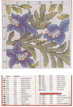 cross-stich pattern,flowers,  (3/3)