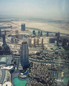 View from the worlds tallest building Burj Khalifa, Dubai