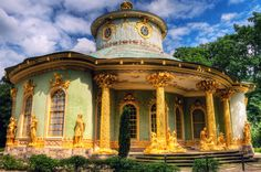 The Chinese House   Garden Pavillion at Frederick the Great's Sanssouci Palace   Potsdam, Germany