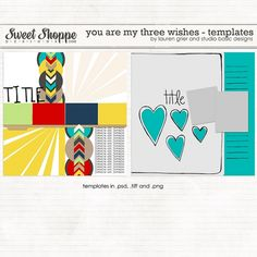 You Are My Three Wishes Templates by Lauren Grier & Studio Basic http://www.sweetshoppedesigns.com/sweetshoppe/product.php?productid=26155=584=1