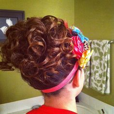 I don't like the headband, but this hairstyle is adorable! Maybe with a little cheetah bow?