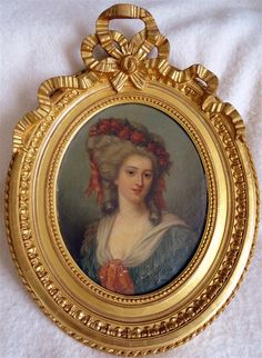 Mirror Photo Frames, Gold Picture Frames, Wall Mirror, Miniature Portraits, Miniature Paintings, Victorian Frame, European Paintings, Rococo Style, Antique Paint