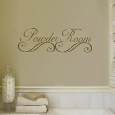 Powder Room Bathroom Wall Decal Sticker Vinyl Art by Stickitthere, $9.99