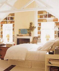 floor to ceiling bookshelves  WANTING EM!
