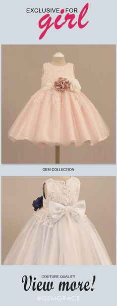 Only $64.99, Flower Girl Dresses Vintage Lace Blush Pink Flower Girl Dress With Flowers Tutus Wedding Dress #TG7034 at #GemGrace. View more special Flower Girl Dresses now? GemGrace is a solution for those who want to buy delicate gowns with affordable prices, a solution for those who have unique ideas about their gowns. 2018 new arrivals, shop now to get $5 off!