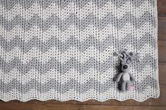 Juanito natural and gray Blanket-with Gabriel - modern handmade for kids+home - Miga De Pan