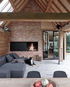 Cozy Corner Fireplace Design Ideas in the Living Room Future House, Exterior Design, Interior And Exterior, Living Divani, Living Room, Pool Houses, Design Case, Outdoor Rooms, Outdoor Living