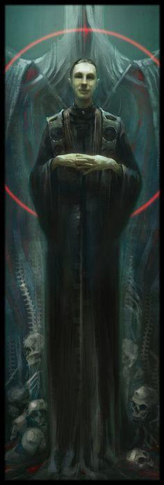 Necromancer, Sergey Vasnev on ArtStation at https://www.artstation.com/artwork/lRoX5