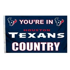 This Houston Texan Fan Flag lets everyone know they are in Houston Texans Country