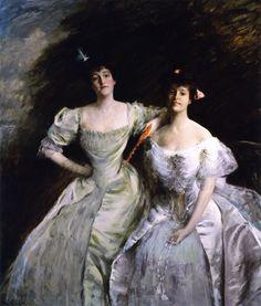 William Merritt Chase – Mrs. Sullivan and Mrs. Oskar LIvingstonby .1905