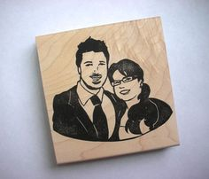 Oh my goodness!!!! Guess what I will be doing for Christmas cards this year!!!!! A customized stamp of my kids!!!!!!! AAAAAHHHHH!!! How amazing is this! And only $35! Check out Kozue's etsy shop!