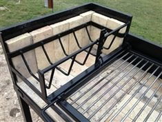 Our Uruguayan Grill with Hearth 45 X is designed to grill Uruguayan Asado over red hot coals. The hearth with grate allows wood to be burned into hot coals which are then pushed beneath the cooking grate. Asado Grill, Bbq Grill, Grilling, Outdoor Oven, Outdoor Cooking, Grill Design, Küchen Design, Barbecue Four A Pizza, Argentine Grill