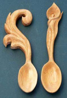 Krásné dřevěné lžíce | Dřevozpracující nápady