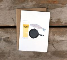 Pilsner and Fish Fry A6 Card by redcruiser on Etsy, $4.00