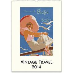 Cavallini Vintage Travel Wall Calendar 2014 found on Polyvore
