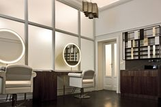 Hairdressing Interior Design Ideas with Great Lighting by Pietro Russo - SALON INTERIOR DESIGN