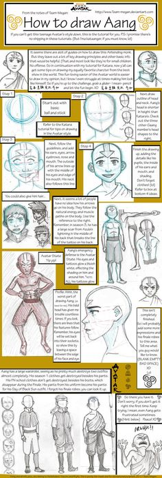 How to Draw Aang Tutorial