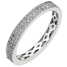 A  stunning full eternity ring crafted in 9ct white gold and set with half carat…