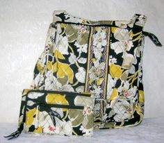 Vera Bradley Dogwood Crossbody Bag and Trifold Wallet Retired Design 0d483cbec60a1