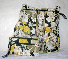 63bd576b2 Vera Bradley Dogwood Crossbody Bag and Trifold Wallet Retired Design