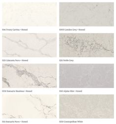 caesarstone quartz - went in person today and chose statuario Nuvo, nobel grey and London grey as my three finalists. Quartz Kitchen Countertops, Dark Countertops, Kitchen Benches, Condo Kitchen, Kitchen Reno, Kitchen Remodel, Kitchen Ideas, Noble Grey Caesarstone, Cooking