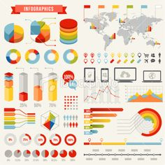 Infographics Set #1 Royalty Free Stock Vector Art Illustration