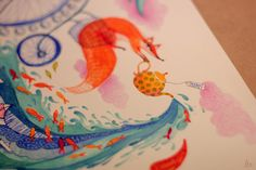 5 o'clock Thames by madalina andronic, via Behance