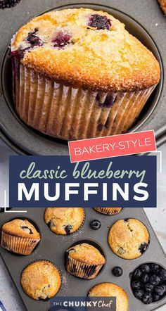 Get ready to toss those boxes of muffin mix these homemade blueberry muffins are moist loaded with blueberries and so simple to make! Directions for regular jumbo and mini sized muffins! #blueberry #muffins #breakfast #brunch #baking #homemade #scratch #easyrecipe Pastry Recipes, Tart Recipes, Cupcake Recipes, Baking Recipes, Dessert Recipes, Muffin Recipes, Recipes Dinner, Brunch Recipes, Yummy Recipes