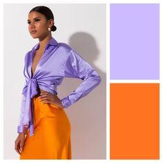 Colour Combinations Fashion, Color Combinations For Clothes, Color Blocking Outfits, Purple Outfits, Colourful Outfits, Colorful Fashion, Spring Outfits, Look Fashion, Fashion Outfits