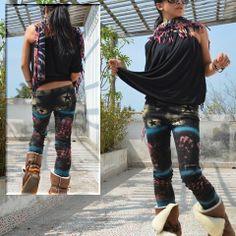 Paint Space World Cotton Leggings #fashion