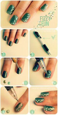 Tutorial para puntos en uñas - Nails tutorial