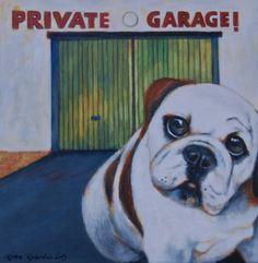 "Saatchi Online Artist Riitta Kalenius; Painting, ""Nice Doggie"" #art"