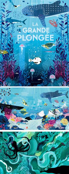Ocean Illustrations by Lucie Brunellière