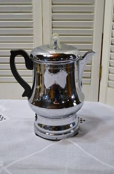 Vintage Farberware Coffee Percolator Chrome Black by PanchosPorch #CoffeePercolator