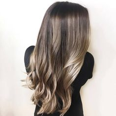 Colorists on are showing their interpretations of quot; hair color a way to blend ashy blonde and brunette tones for a dimensional, seamless look. Dark Blonde Hair, Hair Color Dark, Cool Hair Color, Brown Hair Colors, Hair Colours, Going Blonde To Brunette, Autumn Hair Colour 2018, Colour Melt Hair, Blonde Hair Colour