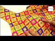 Blouse Designs Cutting & Stitching,Convert Normal Blouse to Princess cut blouse, neck desi. Brocade Blouse Designs, Patch Work Blouse Designs, Simple Blouse Designs, Blouse Back Neck Designs, Designer Blouse Patterns, Party Wear One Piece, Princess Cut Blouse, Blouse Tutorial, Embroidery Suits Design