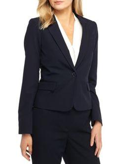 Tommy Hilfiger Blue Twill One Button Jacket