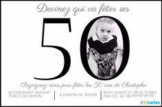 Carte D Invitation Anniversaire 50 Ans Popcarte A Faire Pinte