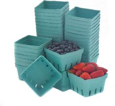 Produce Baskets, Berry Baskets, Bake Sale, Food Service, Fruits And Veggies, Vegetables, Farmers Market, Party Favors, Berries