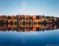 Bridgton, Maine. We stayed in a cabin on Woods Pond when the leaves were in full fall splendor and it was a peaceful paradise!