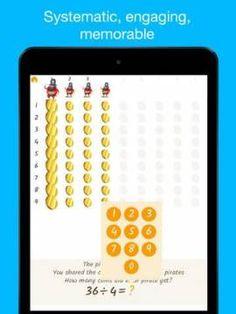 Montessori MatheMAGICs: Dynamic Division - Educational Math Game for Kids - 2nd grade - an interactive Montessori division board. Appysmarts score: 89/100